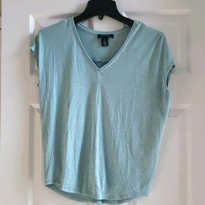 WHBM light blue short sleeve dolman top